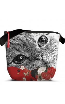 SAC BANDOULIERE CHAT