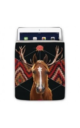 ETUI IPAD LION CHEVAL