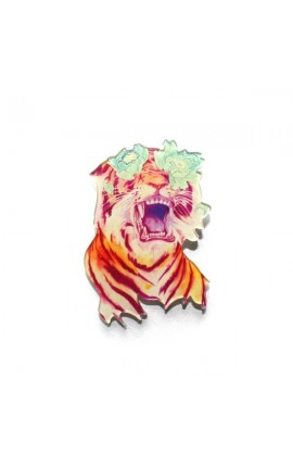 BROCHE TIGRE FLOWERS