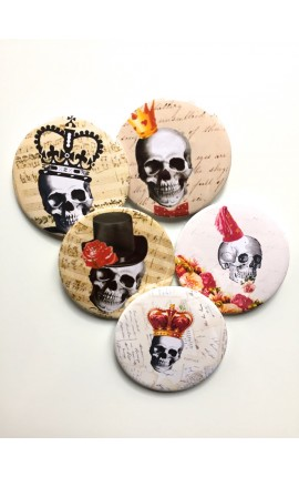 PACK 5 BADGES MEMENTO MORI